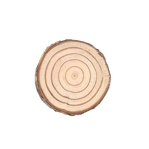 Natürliche Holz Scheibe Tasse Matte Coaster Tee Kaffeetasse Getränkehalter DIY Weiche Holz Tischsets Natürliche Isoliermatten (Größe : 4-6cm, UnitCount : 20 tablets)