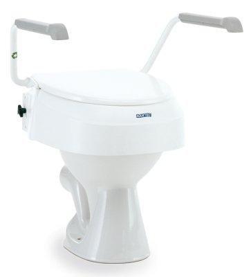AQUATEC 900 Toilettensitz Erhöhung m. Armlehnen, Toilettenhilfen