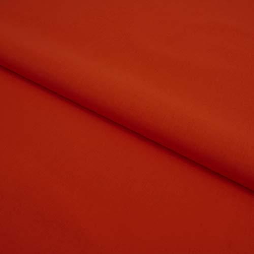 Hans-Textil-Shop Stoff Meterware Baumwolle Linon - Einfarbig, Uni, Schadstoffgeprüfter Stoff, Pflegeleicht, 1 Meter (Terra)