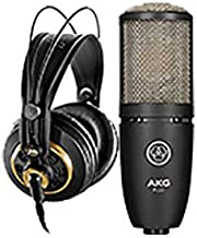 AKG K240STUDIO Semi-Open Over-Ear Professional Studio Headphones P220 Vocal Condenser Microphone