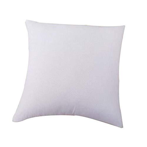 Lubier, 1 Pieza de cojín Cuadrado para sofá, Dormitorio, Coche, Decorativo, Suave, Relleno de cojín, Color Blanco