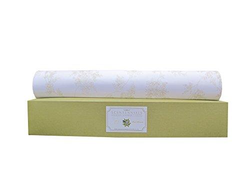 Scentennials Green Tea & Lemon (6 Sheets) Scented Fragrant Shelf & Drawer Liners 16.5' x 22' - Great for Dresser, Kitchen, Bathroom, Vanity & Linen Closet