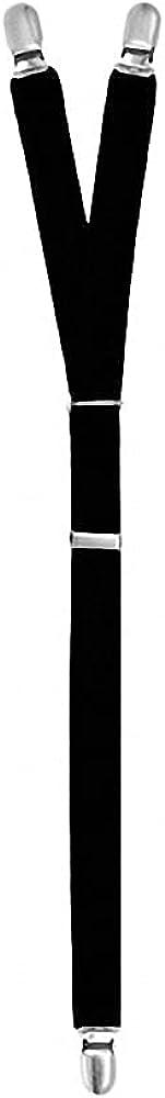 1 Pair Men's Shirt Suspenders Holder Elastic Uniform Business Suspender Garters