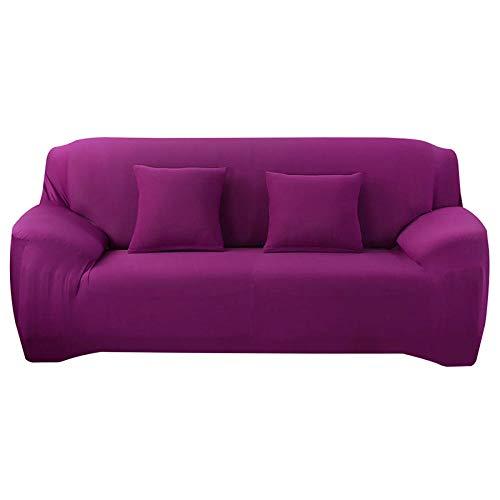 HXTSWGS Funda de sofá con Jacquard,Fundas de sofá, Funda desofáelástica Estirable, Funda de Asiento de sofá, Protector de sofá, Funda Protectora de Muebles-Dark Purple_90-140cm