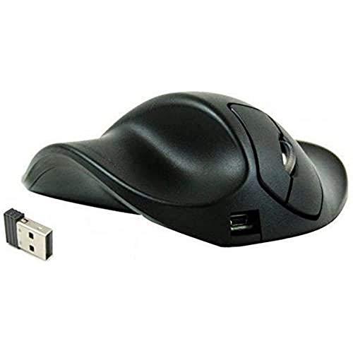 HIPPUS HandShoe Mouse links M wireless | Funkmaus | ergonomisches Design - Vorbeugung gegen Mausarm/Tennisarm (RSI Syndrom) - besonders armschonend | 2 Tasten