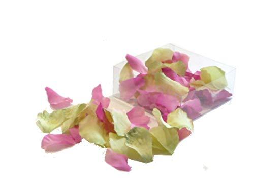Drescher Deko Rosenblüten Weiss rosa 800 Blüten