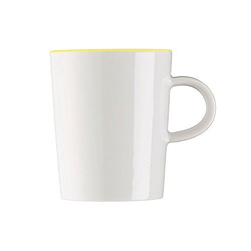 Arzberg Cucina Henkelbecher, Becher mit Henkel, Kaffeebecher, Kaffeetasse, Kaffee Tasse, Colori Yellow, Porzellan, 280 ml, 42100-670658-15505