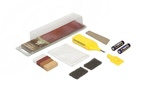 Picobello G61611 - Kit de reparación para madera (tamaño pequeño, para laminados, mobiliario o escaleras), color madera de tono medio