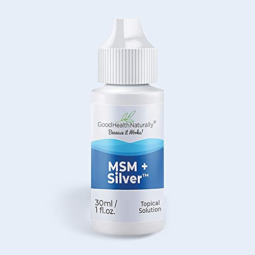 MSM + Silver Drops - Refresh Dry Red Eyes, Pure Organic Saline Solution | 30 ml - Good Health Naturally
