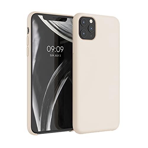 kwmobile Hülle kompatibel mit Apple iPhone 11 Pro Max - Hülle Handyhülle gummiert - Handy Hülle in Creme