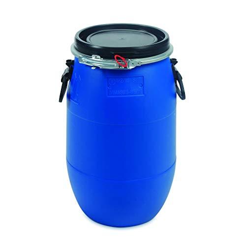Baril en plastique bleu OIPPS 30 L. Qualité alimentaire. Nouveau. UN certifié