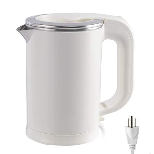 05 Liter Portable Electric Kettle110V / 220V Dual Voltage Little Travel Kettle Small SizeFast Boil  Water Boiler For Coffee TeaWhite