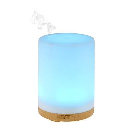200ml Difusor de Aromas,Ultra Silencioso Humidificador Aceites Esenciales, Difusor Aceites Esenciales Ultrasonico con LED de 7 Colores