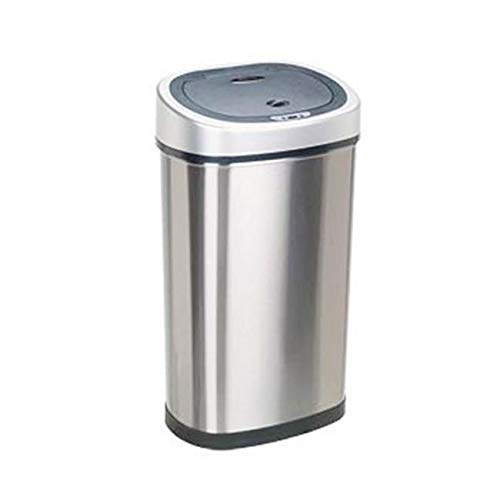 OKSLO Nine star dzt-50-9 oval 13.2 gallon - 50 liter trash can - stainless steel