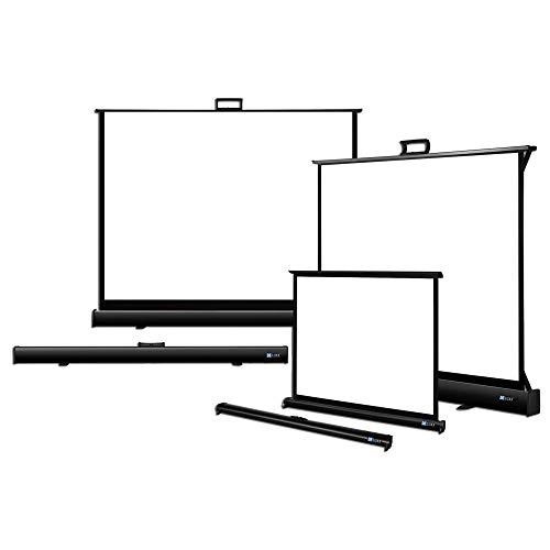 DELUXX Advanced Portable Table-Stand Mobile Beamer-Tisch-Leinwand mit ausklappbaren Standfüßen und Tragegriff Stativ-Leinwand Mattweiß Polaro - 4:3-122x92 cm - 60 Zoll