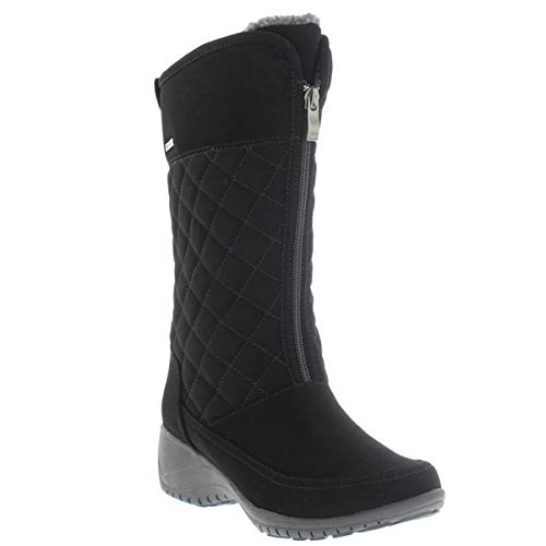 Khombu Annie Winter Boots for Women, Black Supple