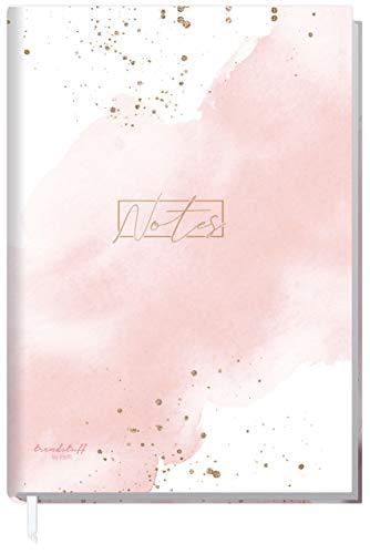 Notizbuch A5 kariert [Blush] von Trendstuff by Häfft | 126 Seiten, 63 Blatt | Ideal als Tagebuch, Bullet Journal, Ideenbuch, Schreibheft | klimaneutral & nachhaltig