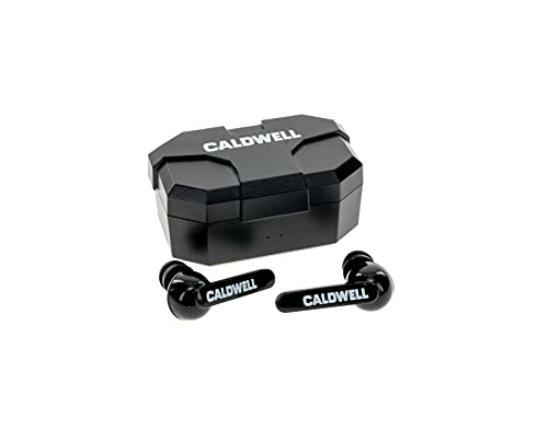 Caldwell E-Max Shadows Black 23 NRR - Electronic Hearing Protection with Bluetooth Connectivity for Shooting, Hunting, and Range