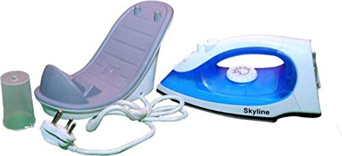 SKY LINE Cordless Non-Stick Soleplate Steam and Spray Iron (VTL-7025, 1200 W, Blue)