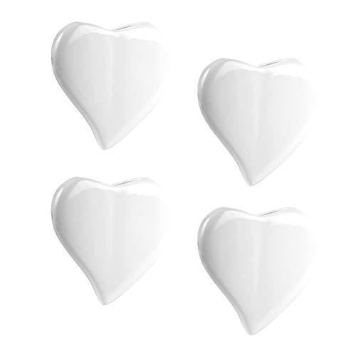 Herz Luftbefeuchter 4-teiliges Set aus weißer Keramik zur Befestigung am Heizkörper Heizung Wasserverdunster Diffuser 1651