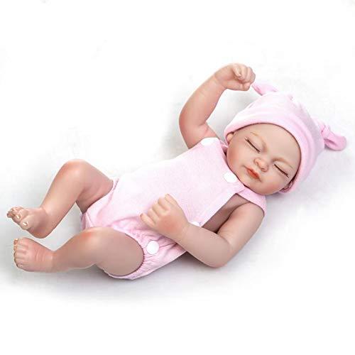 Dytxe-doll Muñecas Hechas A Mano para Bebés Renacidos 26 Cm 10 Pulgadas Gemelos Bebés Silicona Vinilo De Cuerpo Completo Muñecas para Bebés Recién Nacidos con Atuendos (Twins),B