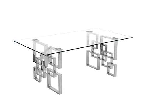 Best Quality Furniture Coffee Table Set, Silver