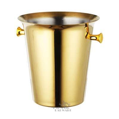 YEZIB Cubo de Hielo 5L Acero Inoxidable Cubo de Hielo Cubierta de Vino Champagne Vino Chiller Botella de Vino Cooler Champagne Cerveza Chiller Hielo Barrel para Fiestas, Bar y Bar. (Color : Gold)