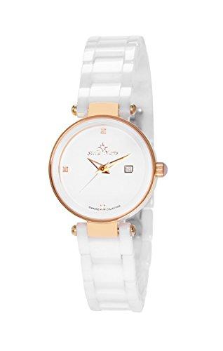 Stella Maris Damen Analog Quarz Uhr mit Keramik Armband STM17H9