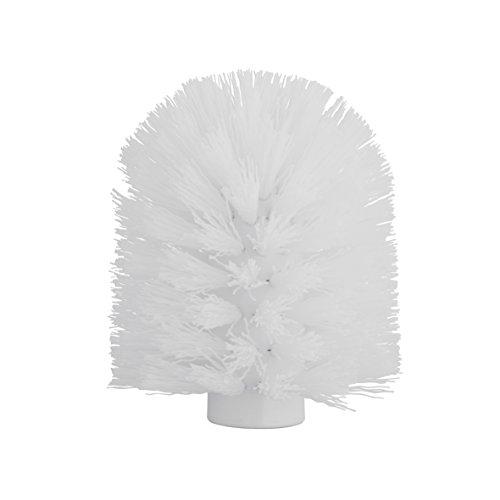 axentia Tête de Brosse de Rechange avec Filetage, Pièce de Rechange en Plastique pour Brosse WC, Ø env. 8,5 cm, Hauteur env. 9,5 cm, Blanc 123009