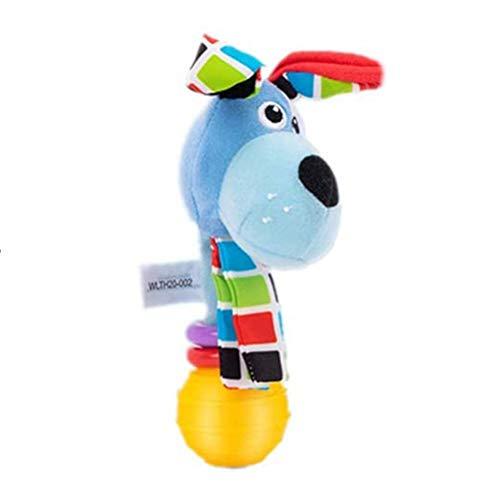 Roexboz Sonajero para bebé de 0 a 6 meses, con dibujos animados, animales de bebé, instrumentos musicales, juguete sensorial, juguete de peluche para bebés y niños pequeños