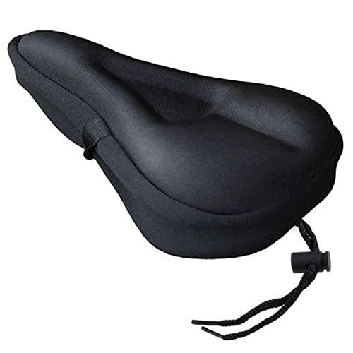 SHIZIZUO Funda de asiento de bicicleta, cojín de asiento de bicicleta, funda de silicona antideslizante con bolsa de almacenamiento