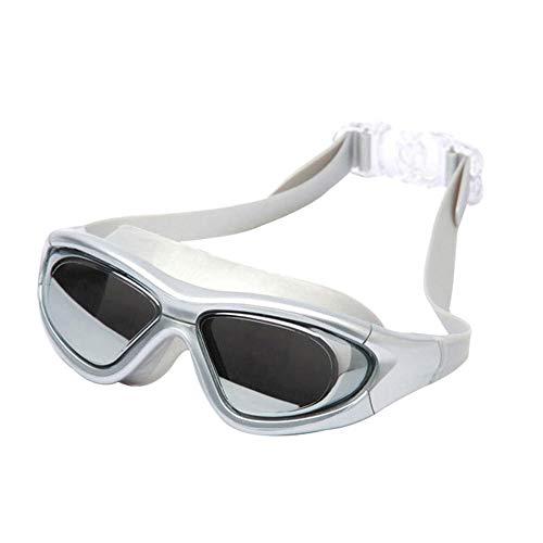 LLXHG volwassen duikbril professionele waterdichte anti-mist brede visie mannen en vrouwen racen spel zwembril