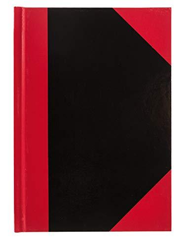 Idena 10148 - Kladde DIN A6, FSC-Mix, 96 Blatt, 70 g/m², kariert, Cover rot-schwarz, 1 Stück