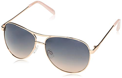 Jessica Simpson J106 Stylish Iconic UV Protective Metal Aviator Sunglasses | Wear AllYear | The Gift of Glam 60 mm Rose Gold