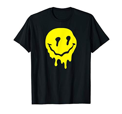 Funny Melted Acid LSD MDMA Smiley Face Psychedelic T Shirt