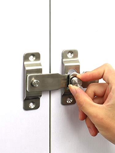 Cerradura de puerta con pestillo de palanca de acero inoxidable resistente