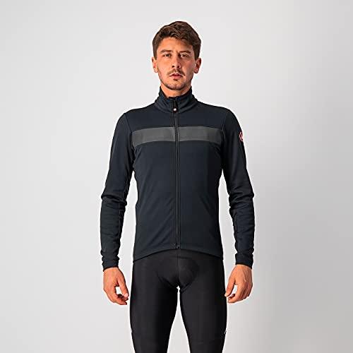 castelli RADDOPPIA 3 Jacket, Giacca Uomo, Light Black/Black Reflex, XXL