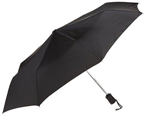 Unique Imports Small Compact Tote Folding Rain Umbrella Opens 42