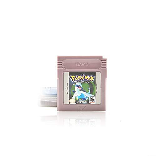 Nintendo GB GBC Game Pokemon SILVER POKEMON for Nintendo Game Boy Color GBA GBC w/ Case