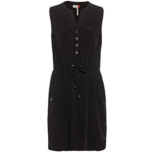 Ragwear Damen Roisin Kurzarmkleid schwarz XS