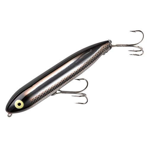 Heddon Isca de pesca Zara Spook Topwater – Isca lendária Walk-the-Dog, brilho preto, Zara Spook (3/113 g)