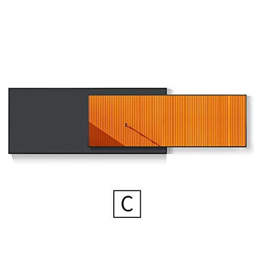 WHCCL Doppellagige abstrakte Baum Inkjet gemalte Wand Leinwand, Moderne Leinwand Bild, fertig zum Aufhängen Leinwand Wandkunst (40 * 100 cm) + (32 * 100 cm),C