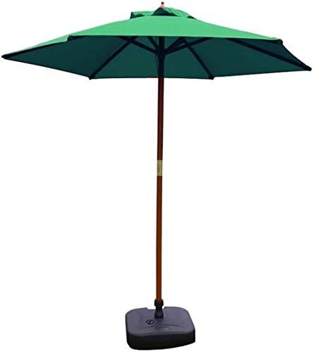 DHTOMC RUINAIER Housewares Sun Parasol Umbrella Garden Green Patio Umbrella Outdoor Parasol Table Umbrella with 6 Sturdy Ribs for Beach Pool Backyard, UV 50+ Protection (Size : Diameter 2.1m) Xping