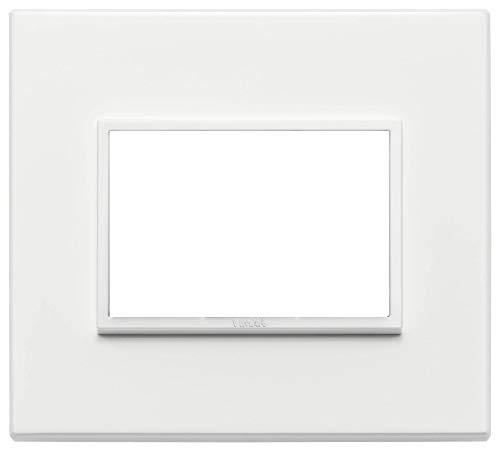 Vimar Serie Eikon Evo–Placca 3moduli alluminio serie Eikon Bianco Total