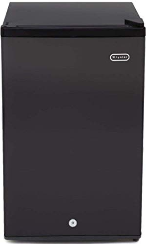Whynter CUF-301BK Energy Star 3.0 cubic feet Upright Freezer Stainless Steel door with Security Lock with Reversible Door - Black (Renewed)