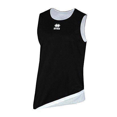 Errea Chicago - Camiseta Deportiva Unisex para niños, Color Negro y Blanco, Talla YXS