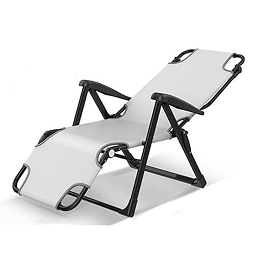 Sillón reclinable Plegable Pausa para el Almuerzo Siesta de Oficina Individual portátil Verano Fresco y Transpirable Silla pequeña Multifuncional