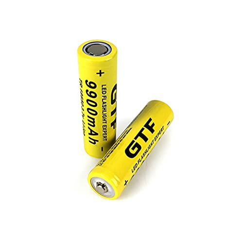 HARTI 18650 Batería Recargable, Linterna LED 3.7V 9900Mah Batería De Litio con 2 Ranuras Cargador De Batería USB para Baterías De Litio Recargable 3.7V 18650/16340/14500,A