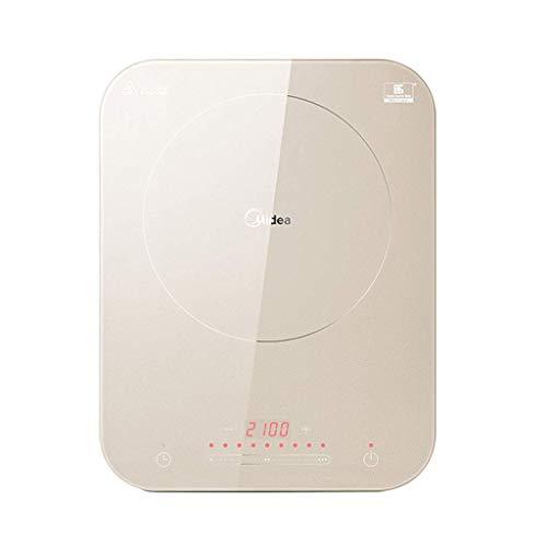 AKAMAS Cocina de inducción de Ahorro de energía para el Dormitorio doméstico, Mini Olla Caliente eléctrica, calefacción de frecuencia Constante, Rosa/Champagne Oro Baibao (Color : Champagne Gold)