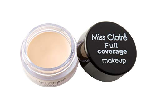 Miss Claire Full Coverage Makeup + Concealer #1, Beige, 6...